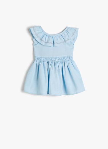 Koton Kids Elbise Mavi